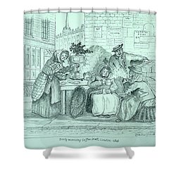 London Coffee Stall Shower Curtain