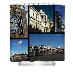 London Collage Shower Curtain