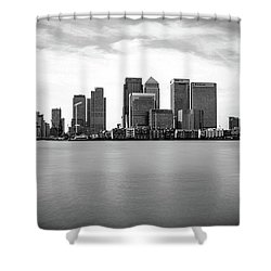 London Docklands Shower Curtain by Martin Newman