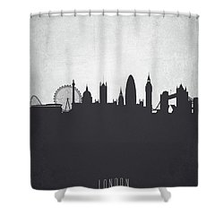 London England Cityscape 19 Shower Curtain by Aged Pixel