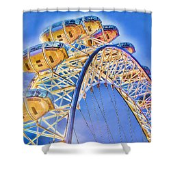 London Eye Blue Sky Shower Curtain