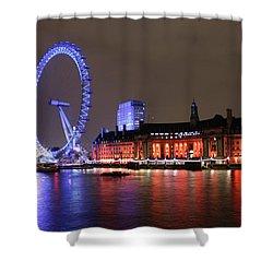 London Eye By Night Shower Curtain