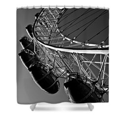 London Eye Shower Curtain by David Pyatt