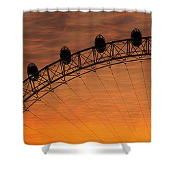 London Eye Sunset Shower Curtain by Martin Newman