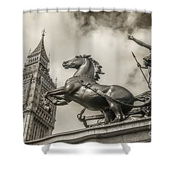 London Guardians Shower Curtain