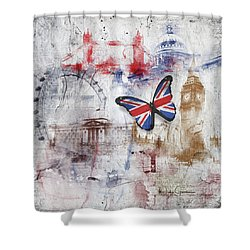 London Iconic Shower Curtain