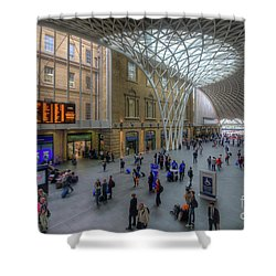 Shower Curtain featuring the photograph London King's Cross by Yhun Suarez
