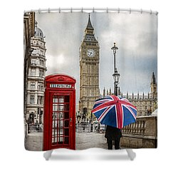 London Lady Shower Curtain