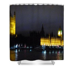 Shower Curtain featuring the photograph London Late Night by Christin Brodie
