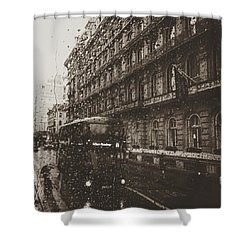 London Rain Shower Curtain by Trystan Oldfield