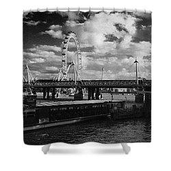 London S Skyline Shower Curtain