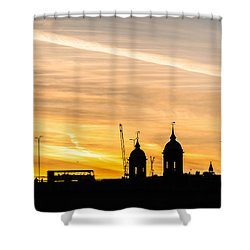 London Silhouette Shower Curtain