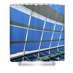 London Sky Garden Architecture 3 Shower Curtain by Judi Saunders