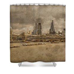 London, England - London Skyline East Shower Curtain