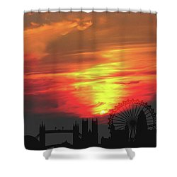 Sunset London Shower Curtain