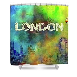 London - Skyline Shower Curtain