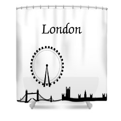 London Skyline Outline Shower Curtain
