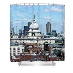 London Skyscrape - St. Paul's Shower Curtain