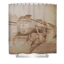 London Steam Locomotive  Shower Curtain