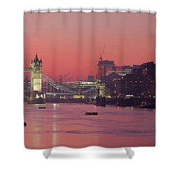 London Thames Shower Curtain