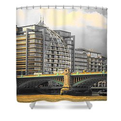 London Shower Curtain by Therese Alcorn