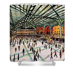 London Train Station Shower Curtain