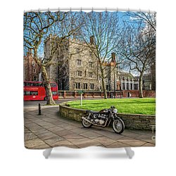 Shower Curtain featuring the photograph London Transport by Adrian Evans