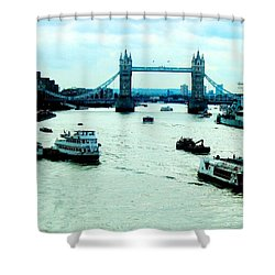 Shower Curtain featuring the photograph London Uk by Michelle Dallocchio