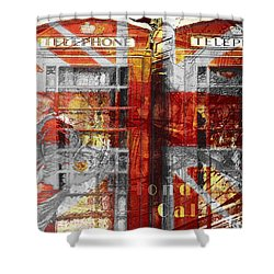 Shower Curtain featuring the digital art London's Calling  by Fine Art By Andrew David