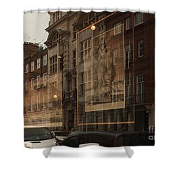 London,window Reflections Shower Curtain