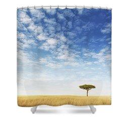 Lone Acacia Tree In The Masai Mara Shower Curtain