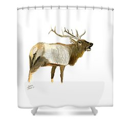 Lone Elk Shower Curtain