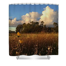 Lone Flower Shower Curtain