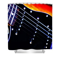 Shower Curtain featuring the photograph Lone Guitar by Baggieoldboy