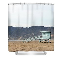 Lone Lifeguard Tower Shower Curtain