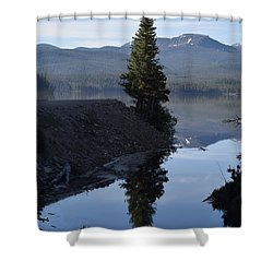 Lone Pine Reflection Chambers Lake Hwy 14 Co Shower Curtain