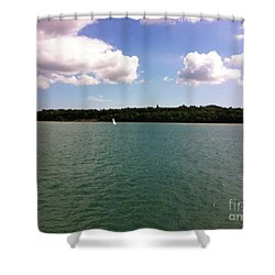 Lone Sailor Shower Curtain