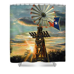 Lone Star Sky Shower Curtain