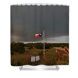 Shower Curtain featuring the photograph Lone Star Supercell by Ed Sweeney