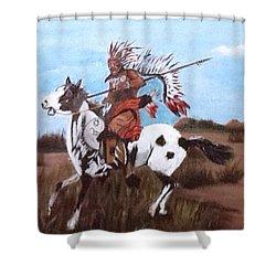 Lone Warrior Shower Curtain