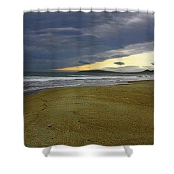 Lonely Beach Shower Curtain