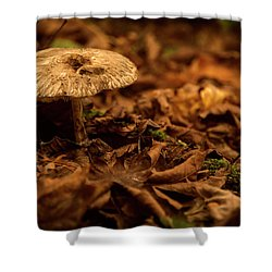 Lonely But Fungi Shower Curtain