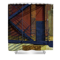 Lonely Days Parking Garage V2 Shower Curtain by Raymond Kunst