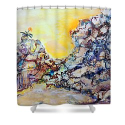 Lonely Flower Shower Curtain