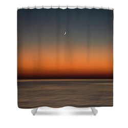 Lonely Moon Shower Curtain