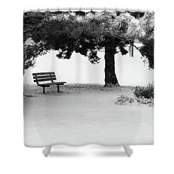 Lonely Park Bench Shower Curtain