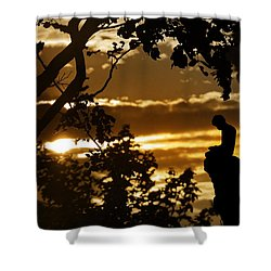 Shower Curtain featuring the photograph Lonely Prayer by Bernd Hau