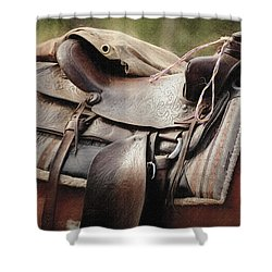 Lonely Saddle  Shower Curtain