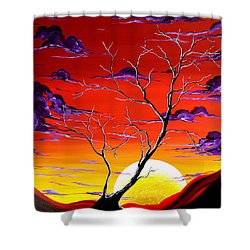 Lonely Soul By Madart Shower Curtain by Megan Duncanson