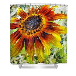 Lonely Sunflower Shower Curtain